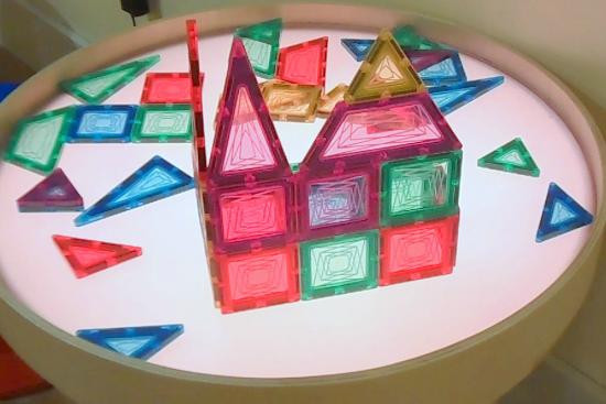 Best ideas about Light Table For Kids . Save or Pin magnetic shapes on colored light table Picture of Now.