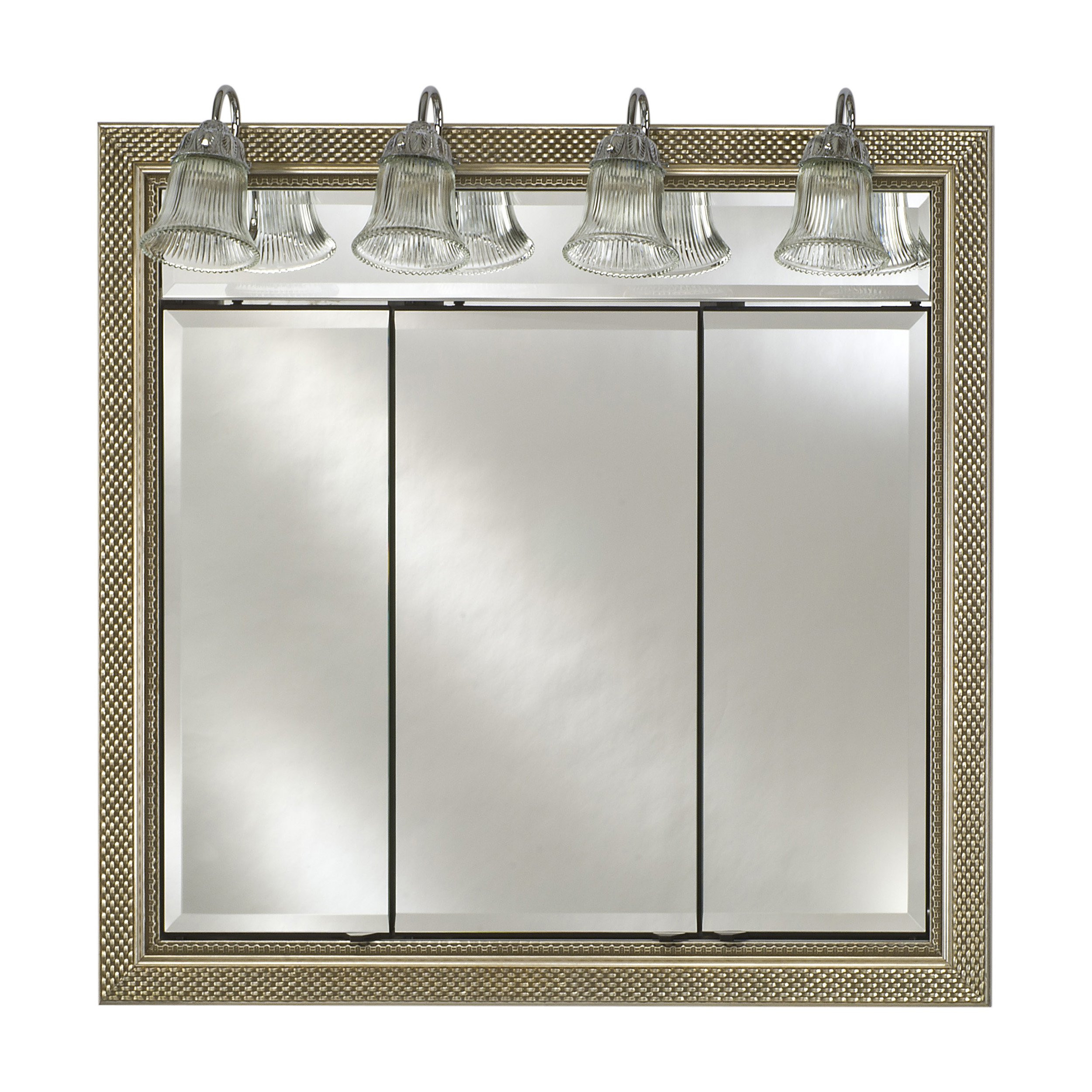 Best ideas about Lighted Medicine Cabinet . Save or Pin Afina Signature Traditional Lighted Triple Door 44W x 34H Now.