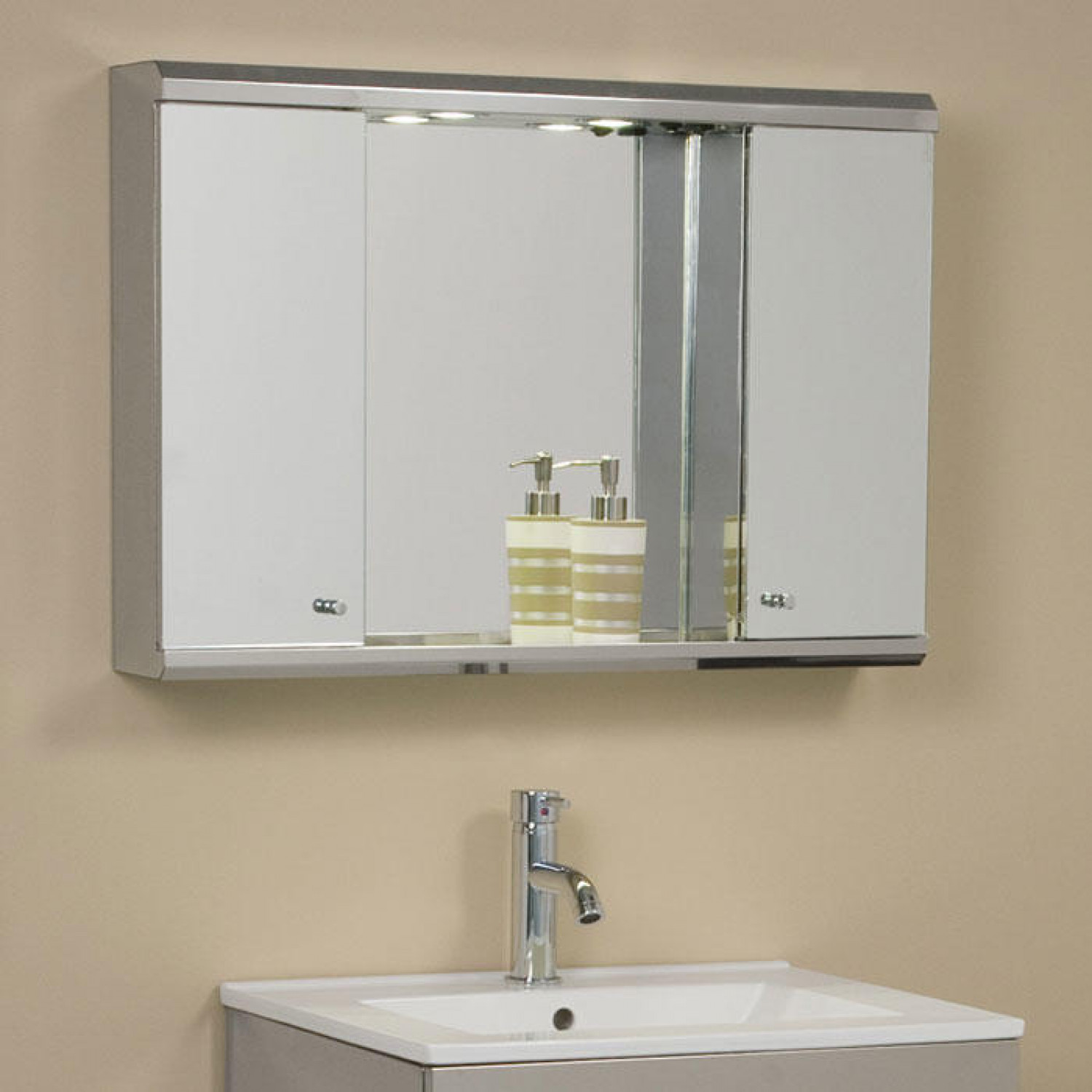 Best ideas about Lighted Medicine Cabinet . Save or Pin Illumine Dual Stainless Steel Medicine Cabinet with Now.