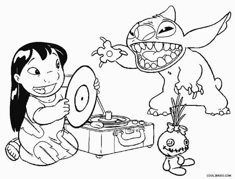 Lilo And Stitch Coloring Book  Printable Lilo and Stitch Coloring Pages For Kids