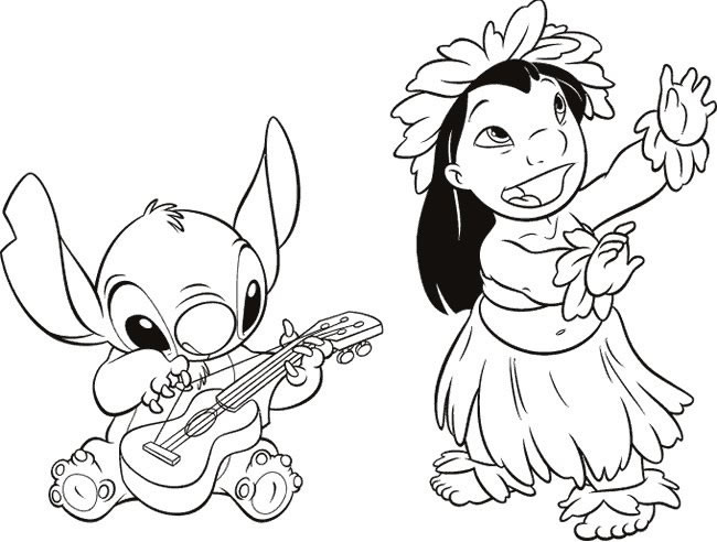 Lilo And Stitch Coloring Book  20 dessins de coloriage Lilo Et Stitch Gratuit à imprimer
