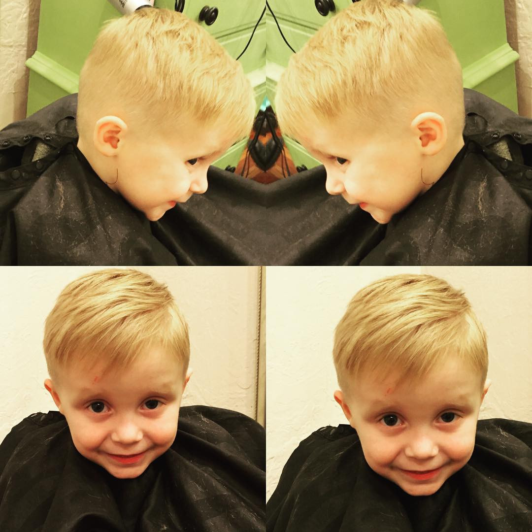 Best ideas about Little Boys Hairstyles . Save or Pin 70 Popular Little Boy Haircuts [Add Charm in 2018] Now.