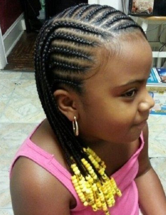 Little Girl Braids Hairstyles  Braids with Beads for Little Girl