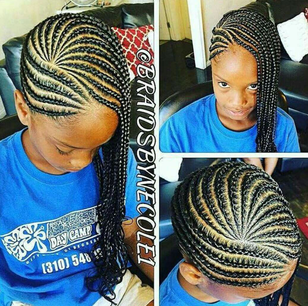 Little Girl Braids Hairstyles  She Used JBCO A TWA Twist Out But The Style She Got