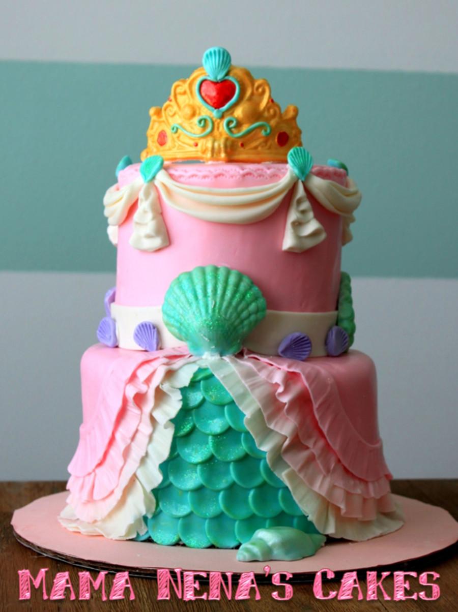 Little Mermaid Birthday Cake  Little Mermaid Princess Cake First Birthday CakeCentral