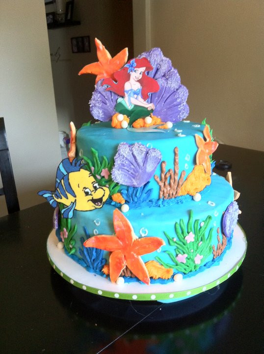 Little Mermaid Birthday Cake  Cakes Cake Is A Good Thing