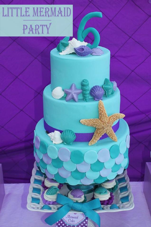 Little Mermaid Birthday Cake  Little Mermaid Party