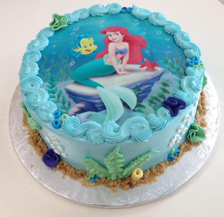Little Mermaid Birthday Cake  Best 25 Little mermaid birthday cake ideas on Pinterest