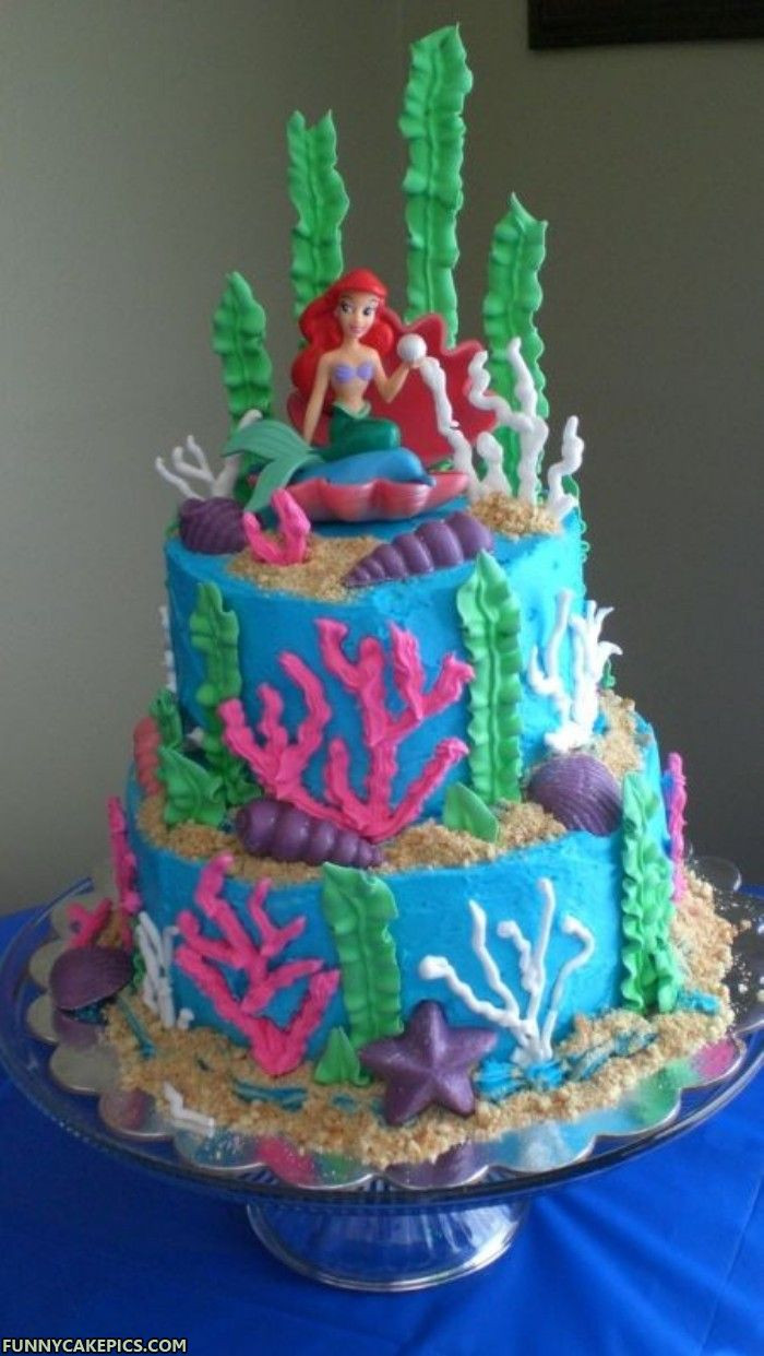 Little Mermaid Birthday Cake  Mermaid Cakes – Decoration Ideas