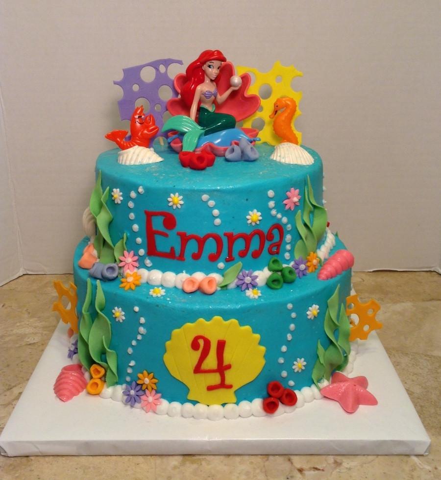Little Mermaid Birthday Cake  Little Mermaid 4Th Birthday Cake CakeCentral