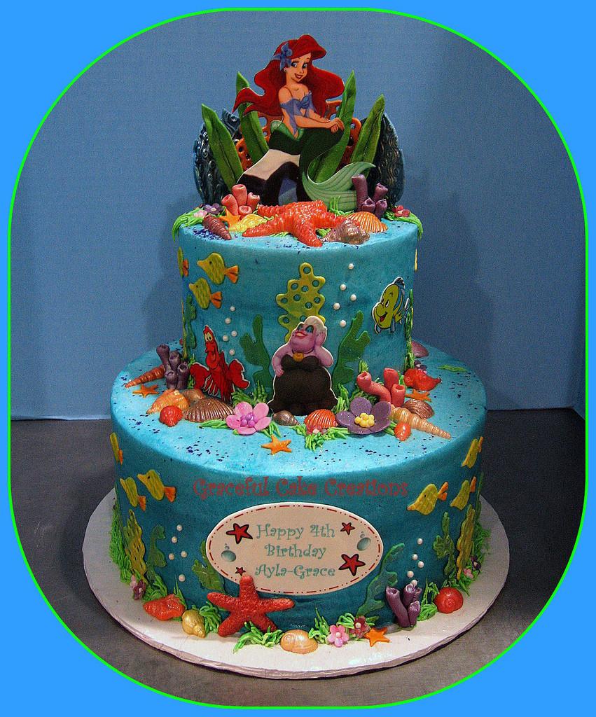 Little Mermaid Birthday Cake  Ariel Little Mermaid Birthday Cake Grace Tari