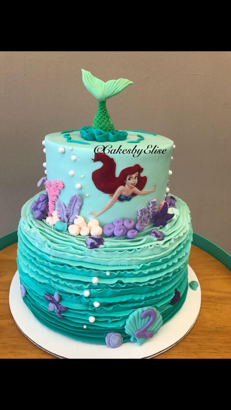 Little Mermaid Birthday Cake  Little mermaid cake Little mermaid swimming cake