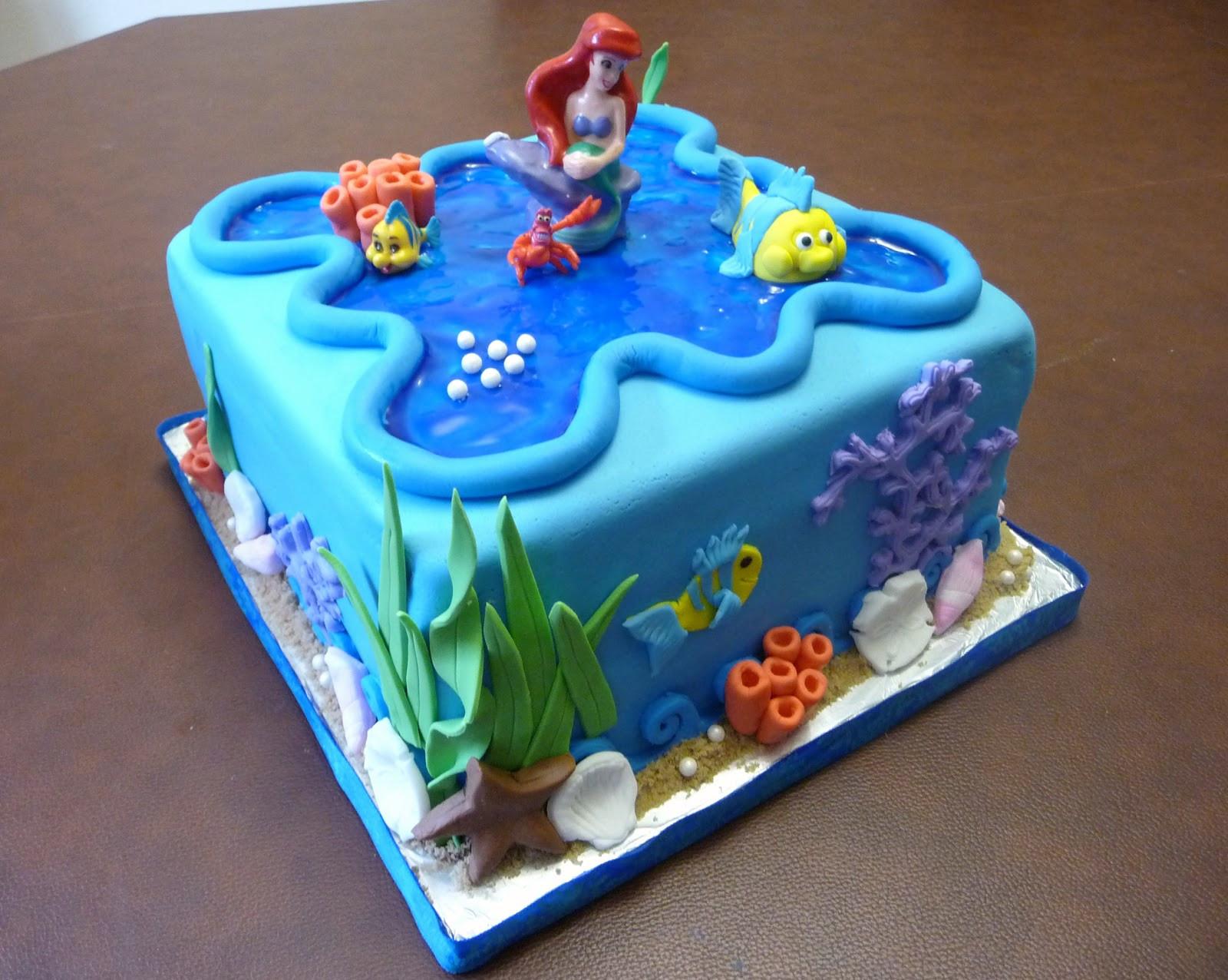 Little Mermaid Birthday Cake  Pure Delights Baking Co The Little Mermaid