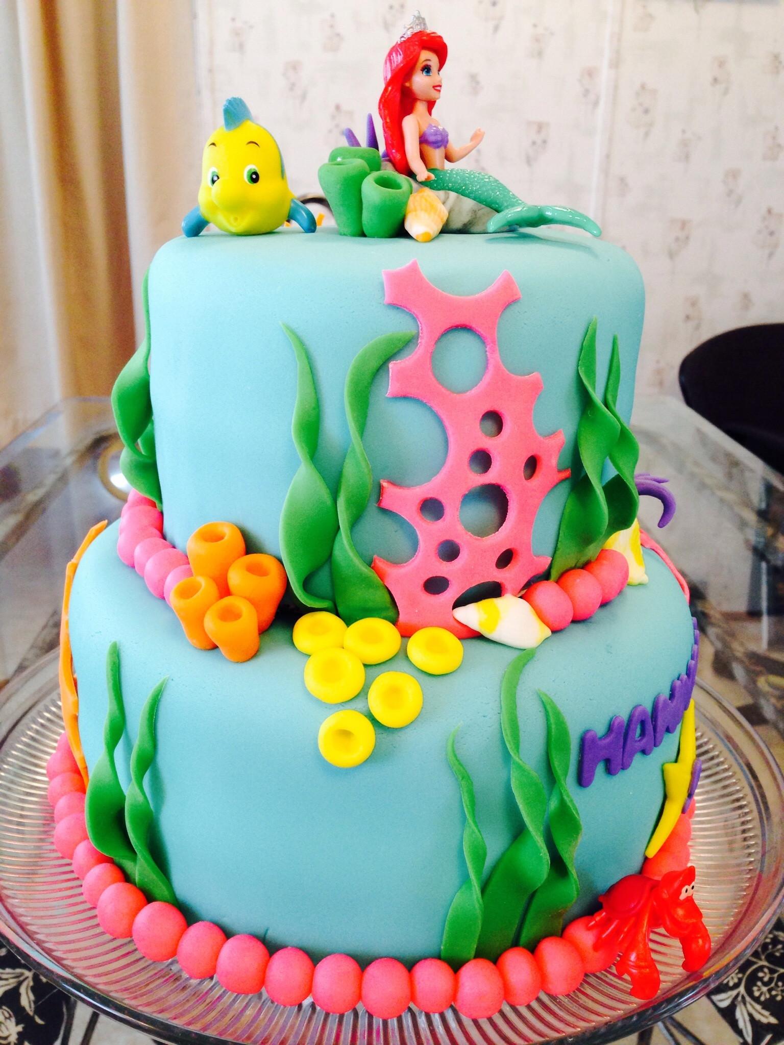 Little Mermaid Birthday Cake  Little Mermaid Cake CakeCentral