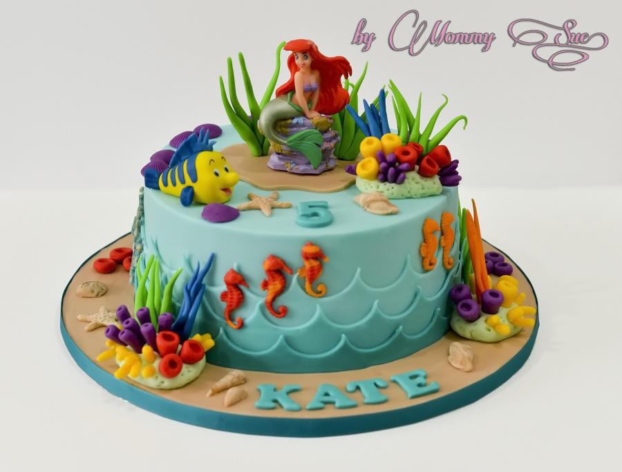 Little Mermaid Birthday Cake  Little Mermaid Cake cake by Mommy Sue CakesDecor