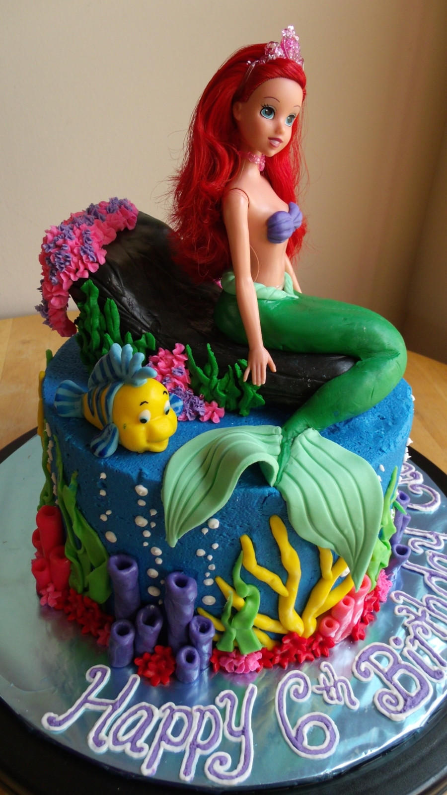 Little Mermaid Birthday Cake  The Little Mermaid Cake And Cupcakes CakeCentral