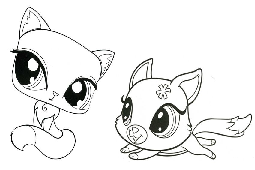 Littlest Pet Shop Coloring Pages  Littlest Pet Shop para colorear pintar e imprimir