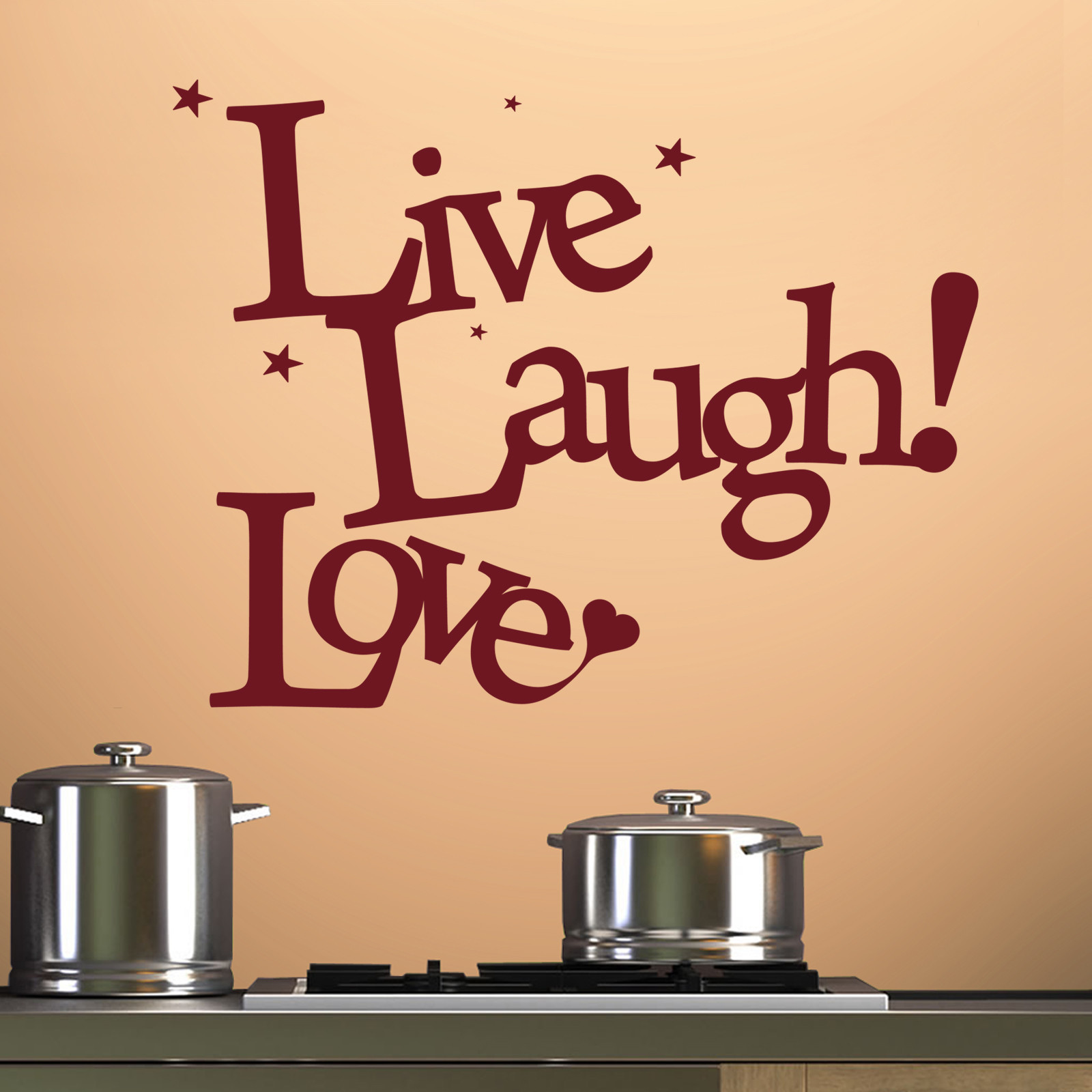 Best ideas about Live Laugh Love Kitchen Decor . Save or Pin Live Laugh Love v3 Wall Stickers & Decals Now.