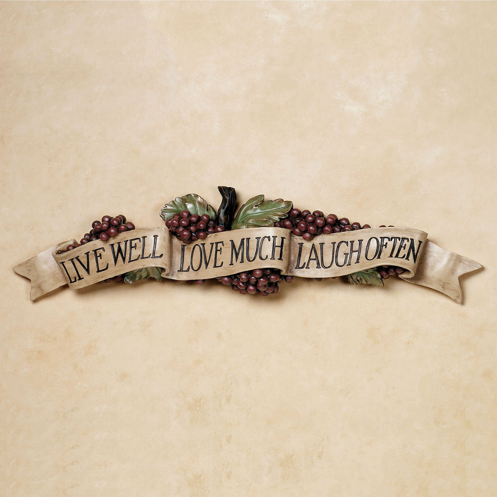 Best ideas about Live Laugh Love Kitchen Decor . Save or Pin Live Love Laugh Grapes Wall Accent Now.
