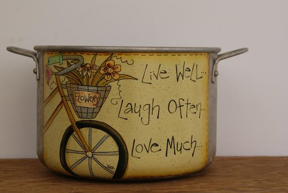 Best ideas about Live Laugh Love Kitchen Decor . Save or Pin Stockpot kitchen decor Live well Laugh often Love much Now.