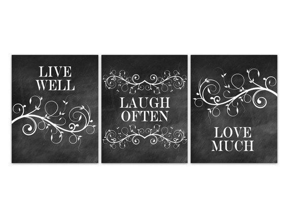 Best ideas about Live Laugh Love Kitchen Decor . Save or Pin Home Decor Wall Art Live Well Laugh ten Love Much Now.