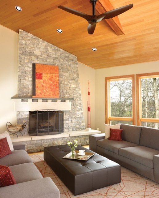 Best ideas about Living Room Ceiling Fan . Save or Pin Haiku Cocoa Bamboo Ceiling Fan in the Living Room Now.