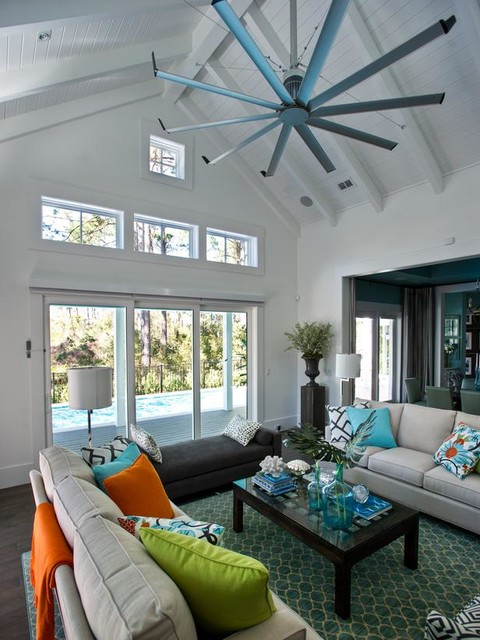 Best ideas about Living Room Ceiling Fan . Save or Pin Isis Ceiling Fan Contemporary Living Room Now.