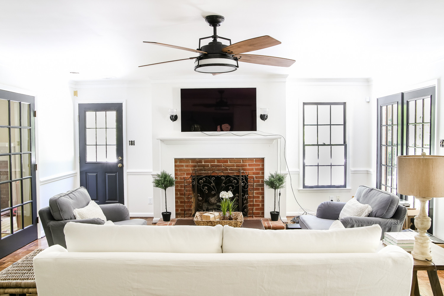 Best ideas about Living Room Ceiling Fan . Save or Pin Living Room Update Ceiling Fan Swap Bless er House Now.
