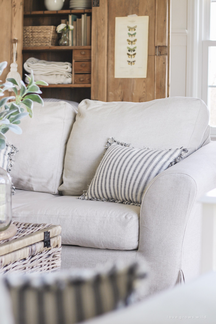 Best ideas about Living Room Chair Covers . Save or Pin Living Room Slipcovers A fort Works Review Love Now.