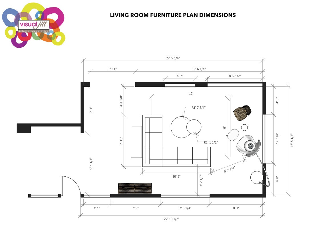 Best ideas about Living Room Dimensions . Save or Pin 3 hour Design Boost Now.
