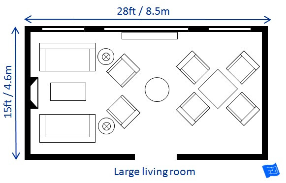 Best ideas about Living Room Dimensions . Save or Pin Living Room Size Now.