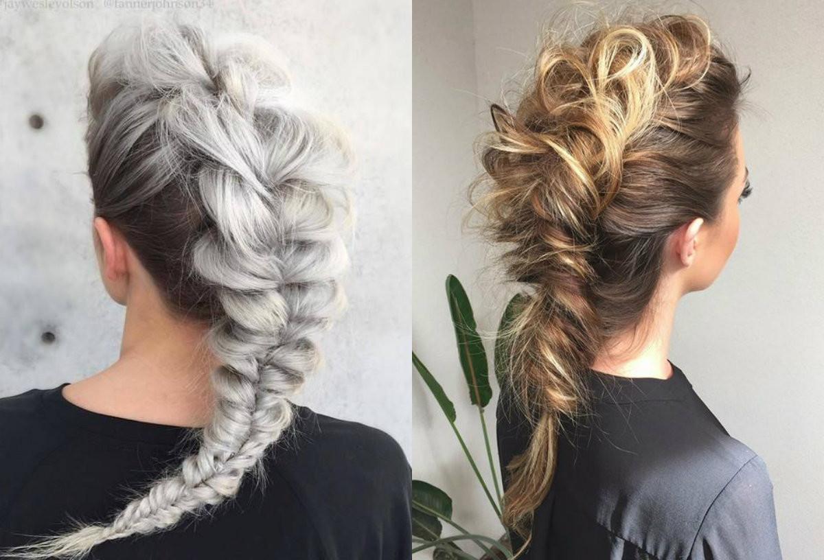 Long Hairstyles Braids  Expressive Women Braided Mohawk Hairstyles