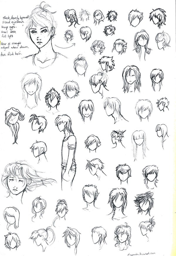 Best ideas about Male Anime Hairstyles . Save or Pin Anime hair styles by MissPinks on DeviantArt Now.