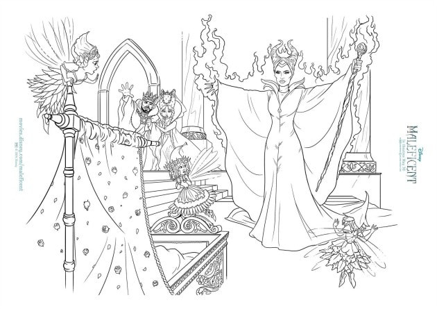 Maleficent Coloring Pages  MALEFICENT Activity Sheets and Coloring Pages