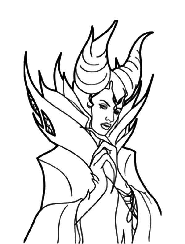 Maleficent Coloring Pages  Sleeping Beauty Maleficent Coloring Pages