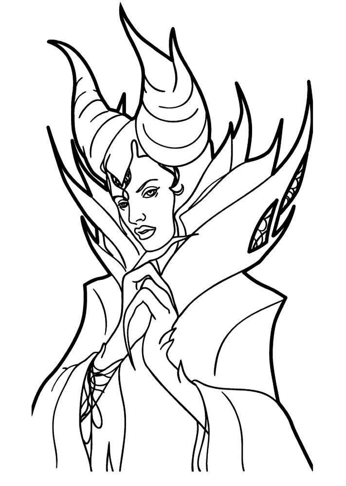 Maleficent Coloring Pages  Kids n fun