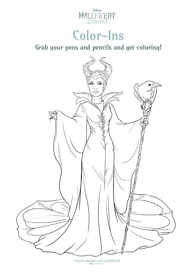 Maleficent Coloring Pages  New MALEFICENT Printables And Coloring Sheets From Disney