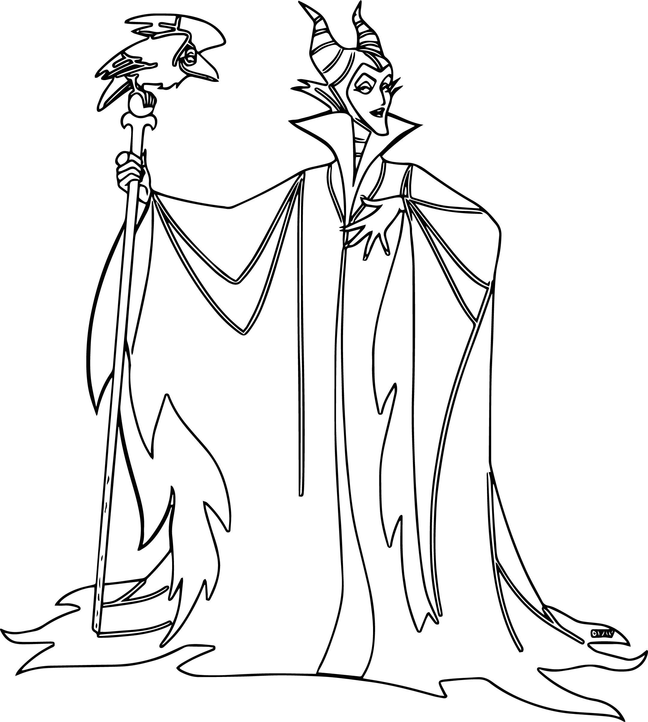 Maleficent Coloring Pages  Maleficent Colouring Pages Page 3 Sketch Coloring Page