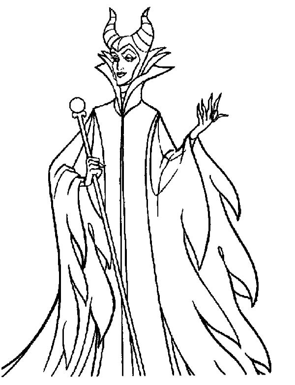 Maleficent Coloring Pages  Walt Disney Maleficent Coloring Pages