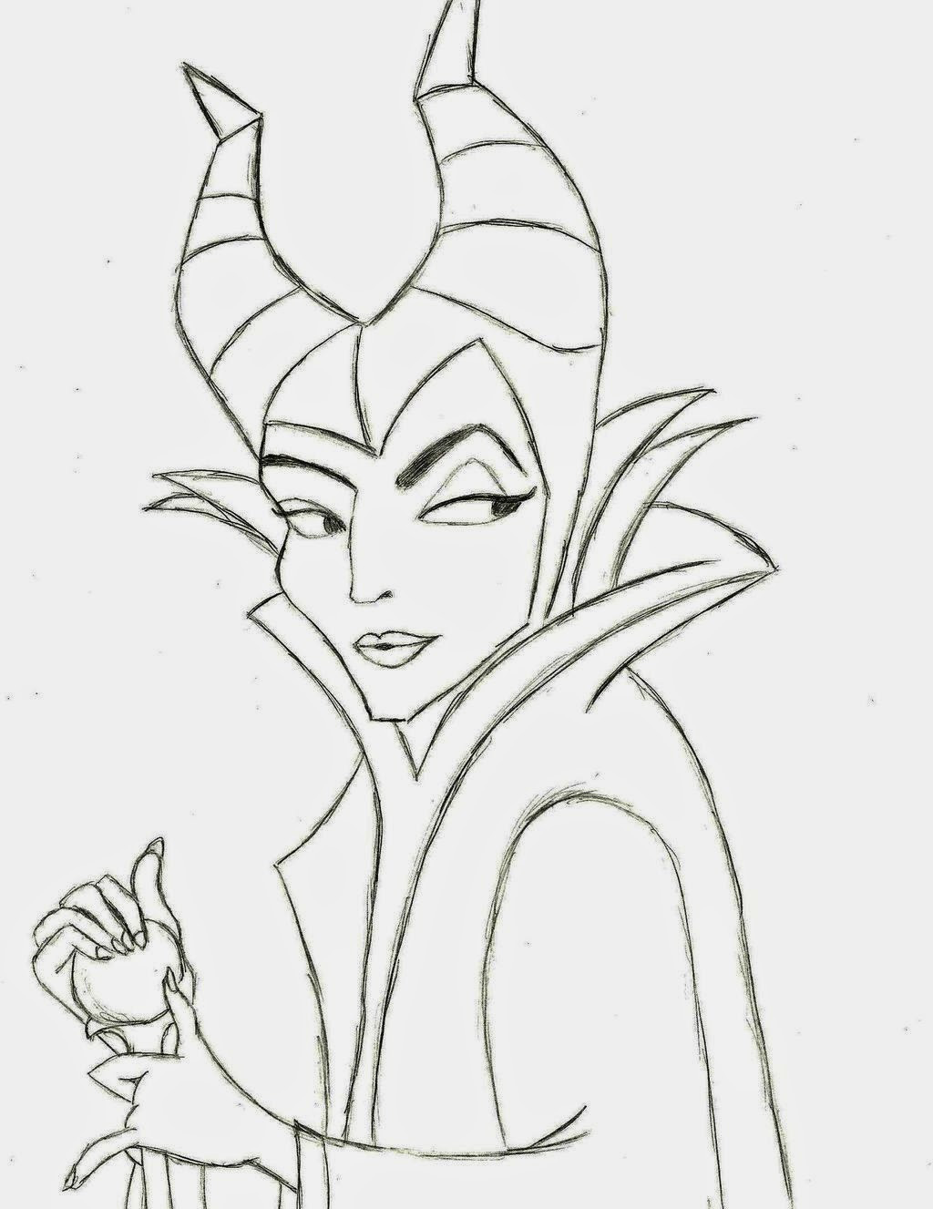 Maleficent Coloring Pages  Disney Movie Princesses Maleficent Free Printable