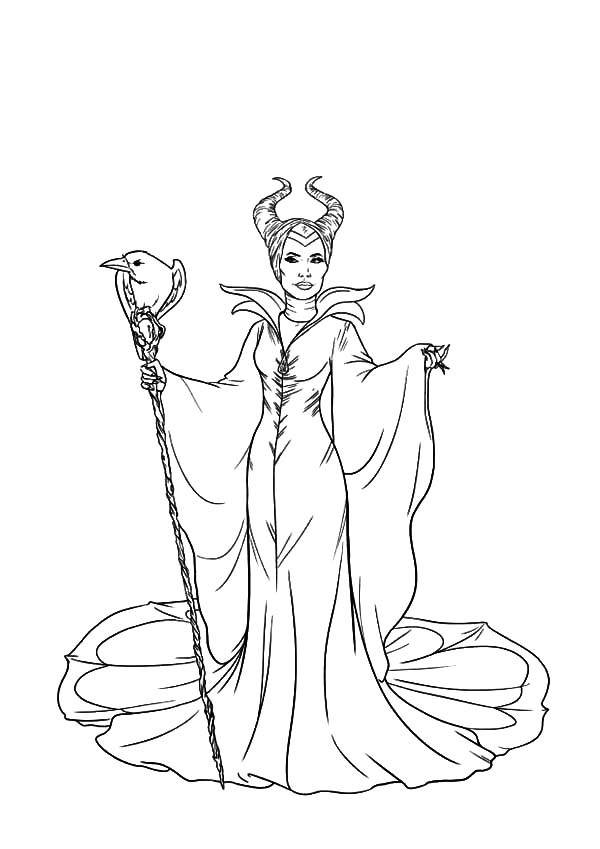 Maleficent Coloring Pages  Maleficent the Movie Coloring Pages