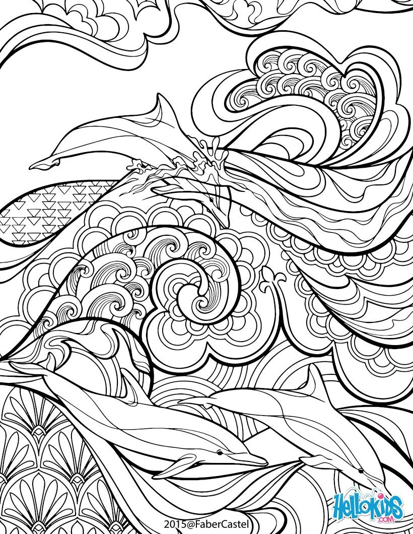 Mandala Art Coloring Pages  Mandala art déco coloring pages Hellokids