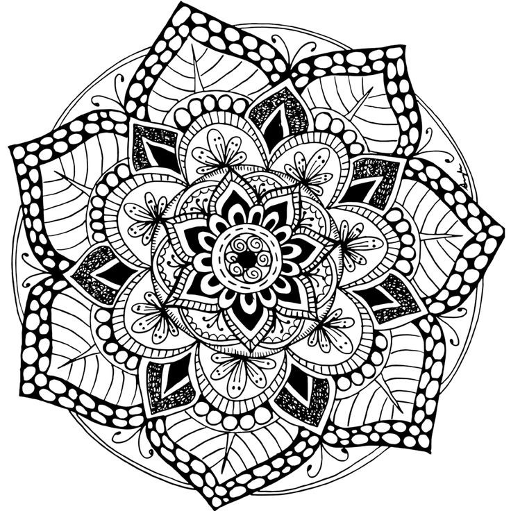 Mandala Art Coloring Pages  Printable Mandala To Color Printable 360 Degree