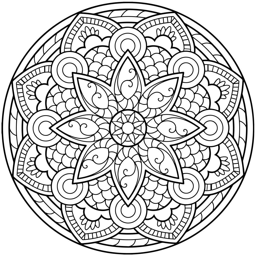 Mandala Art Coloring Pages  Mandala Coloring Pages Mandala