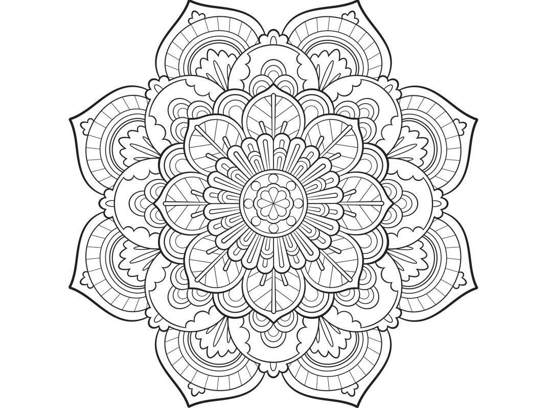Mandala Art Coloring Pages  Colouring pages Mandala