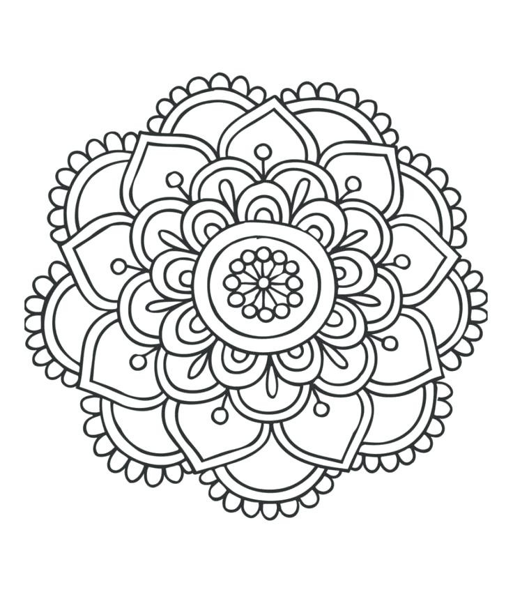 Mandala Art Coloring Pages  Mandala Drawing Animals at GetDrawings