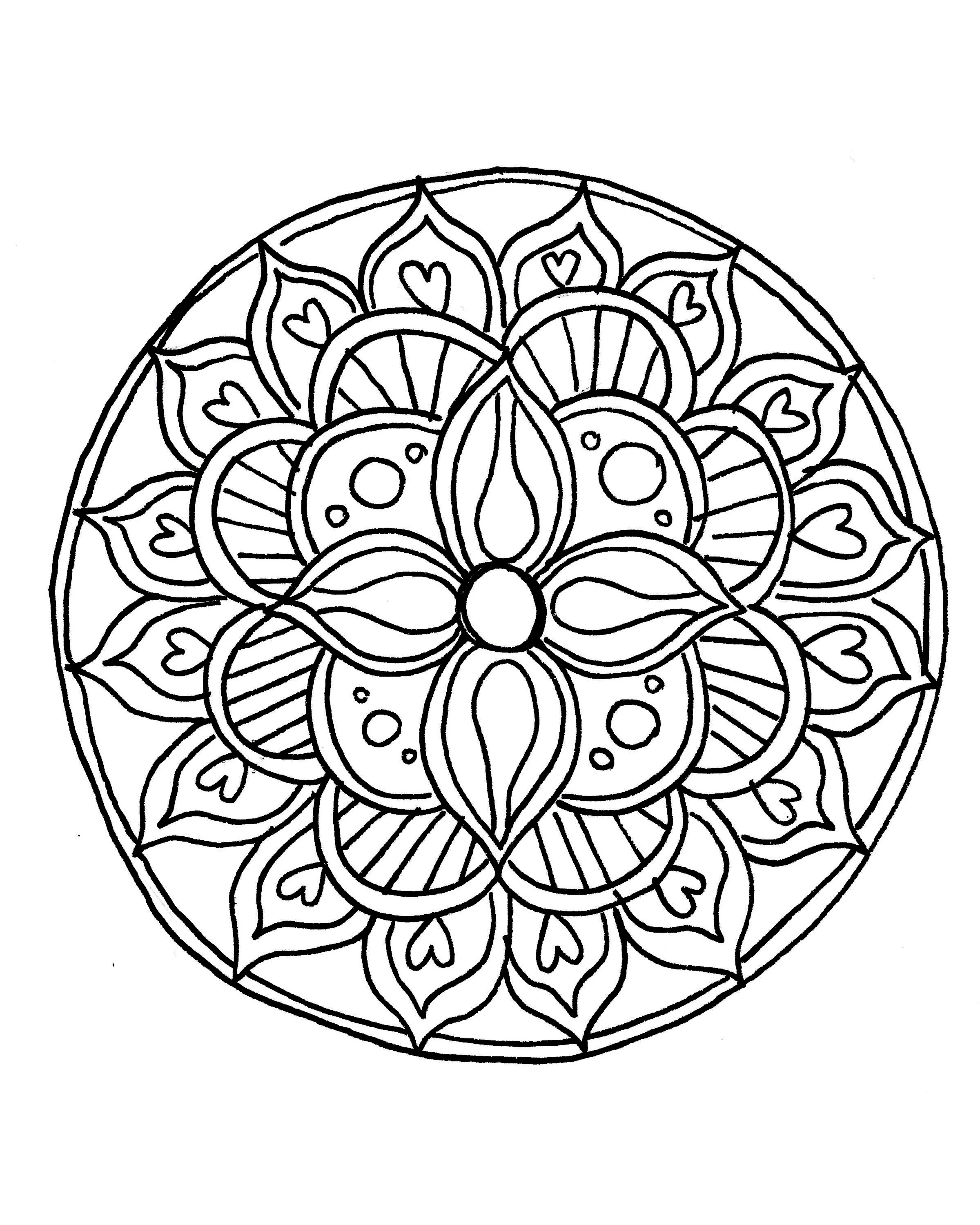 Mandala Art Coloring Pages  How to Draw a Mandala With FREE Coloring Pages