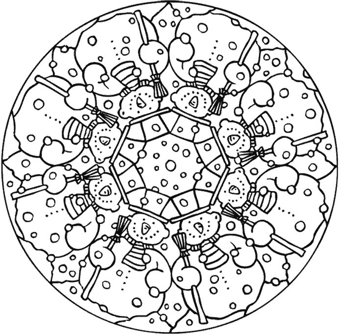 Mandala Coloring Sheets For Kids  Free Printable Mandalas for Kids Best Coloring Pages For