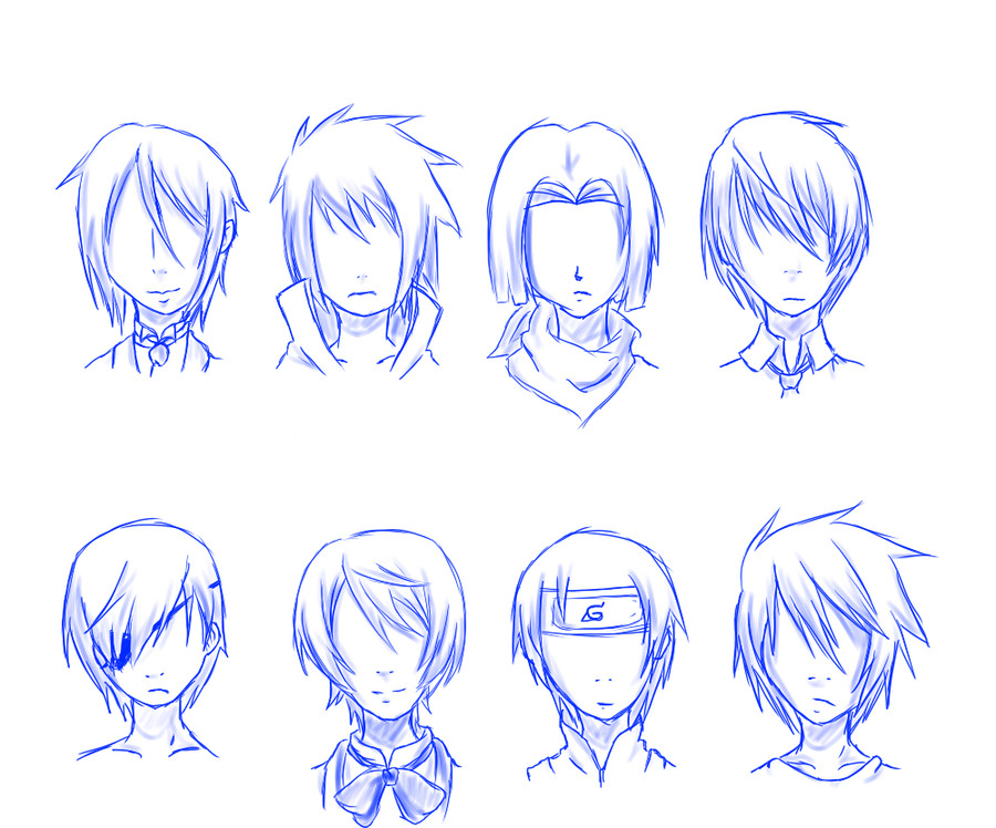 Manga Hairstyles Male  Basic hairstyles for Manga Male Hairstyles must see Anime