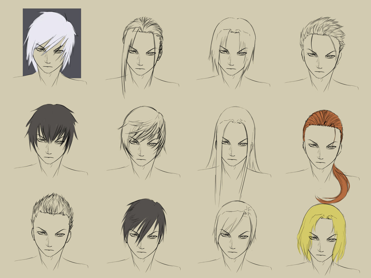 Manga Hairstyles Male  Male Hairstyles by forgotten wings on DeviantArt
